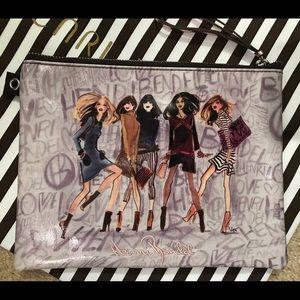 HENRI BENDEL Izak Girls Wristlet, Coated Canvas